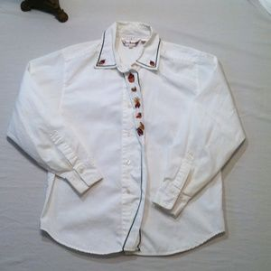SIZE 10 BECHAMEL PETITES FALL BUTTON DOWN